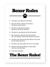 Load image into Gallery viewer, Boxer Dog Rules, Framed Print