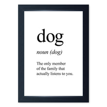Load image into Gallery viewer, Dog Noun, Framed Print