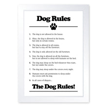 Load image into Gallery viewer, Dog Rules, Framed Print