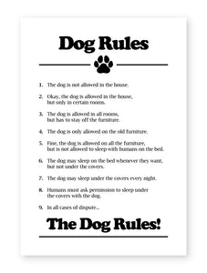 Dog Rules, Framed Print