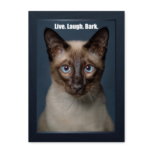 Live Laugh Bark, Framed Print