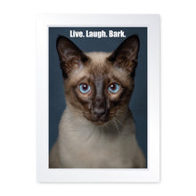 Load image into Gallery viewer, Live Laugh Bark, Framed Print