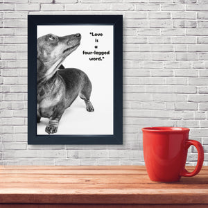 Love Is A Four Legged Word, Framed Print
