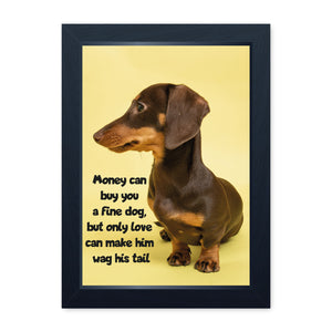 Money Can Buy You A Fine Dog, Framed Print