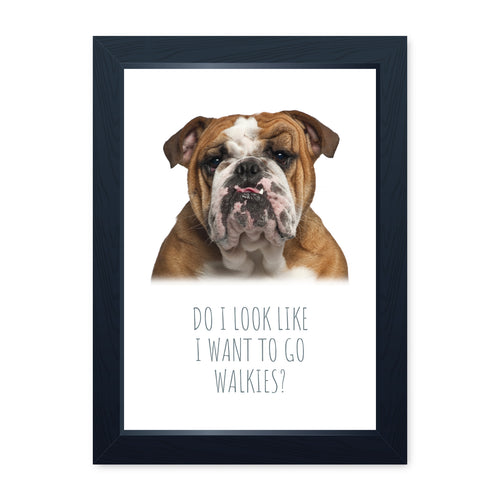 Walkies, Framed Dog Print