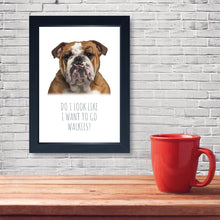 Load image into Gallery viewer, Walkies, Framed Dog Print