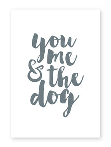 You, Me and The Dog, Framed Print