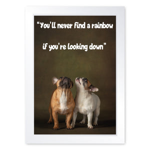 You'll Never Find A Rainbow If You're Looking Down, Framed Print