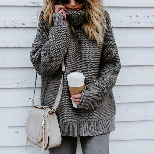 Casual Autumn Winter Turtleneck Sweater