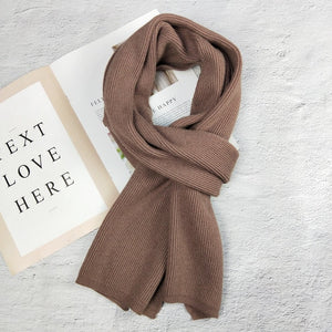 Knitted Wool Long Scarf
