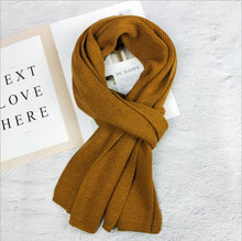 Load image into Gallery viewer, Knitted Wool Long Scarf