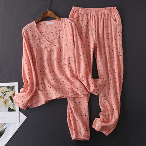 Women's Cotton Water-washed pajamas