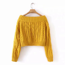 Load image into Gallery viewer, Ladies fashion strapless sweater
