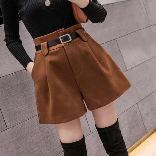 Autumn Winter Woolen Shorts