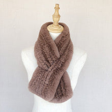 Load image into Gallery viewer, fashion knitted warm fur scarf