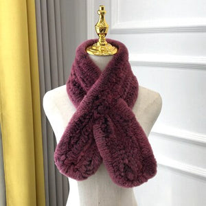 Knit Natural Fur Scarves