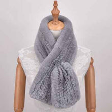 Load image into Gallery viewer, Knit Natural Fur Scarves