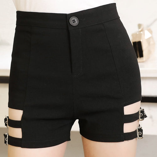 Tight Skinny Garter Belt Punk Shorts