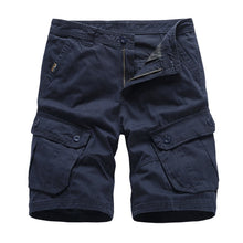 Load image into Gallery viewer, Navy Mens Cargo Shorts