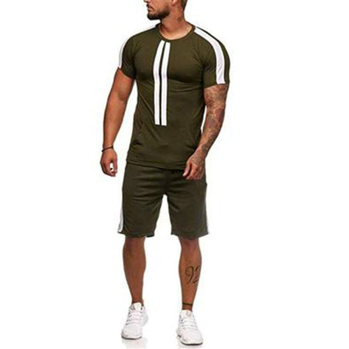 new men's short-sleeved suit