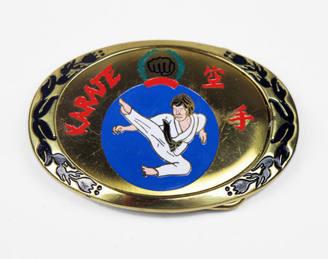 1980's Karate Belt Buckle