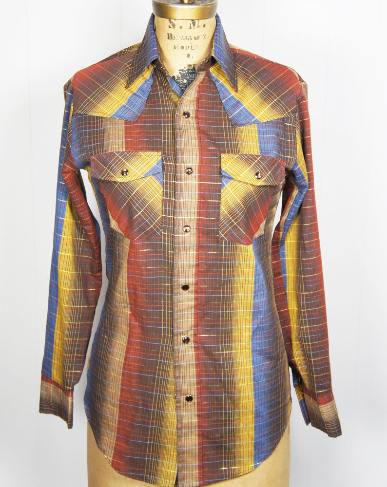 1970's Multicolor Western w/ Gold Stripes - Size XS