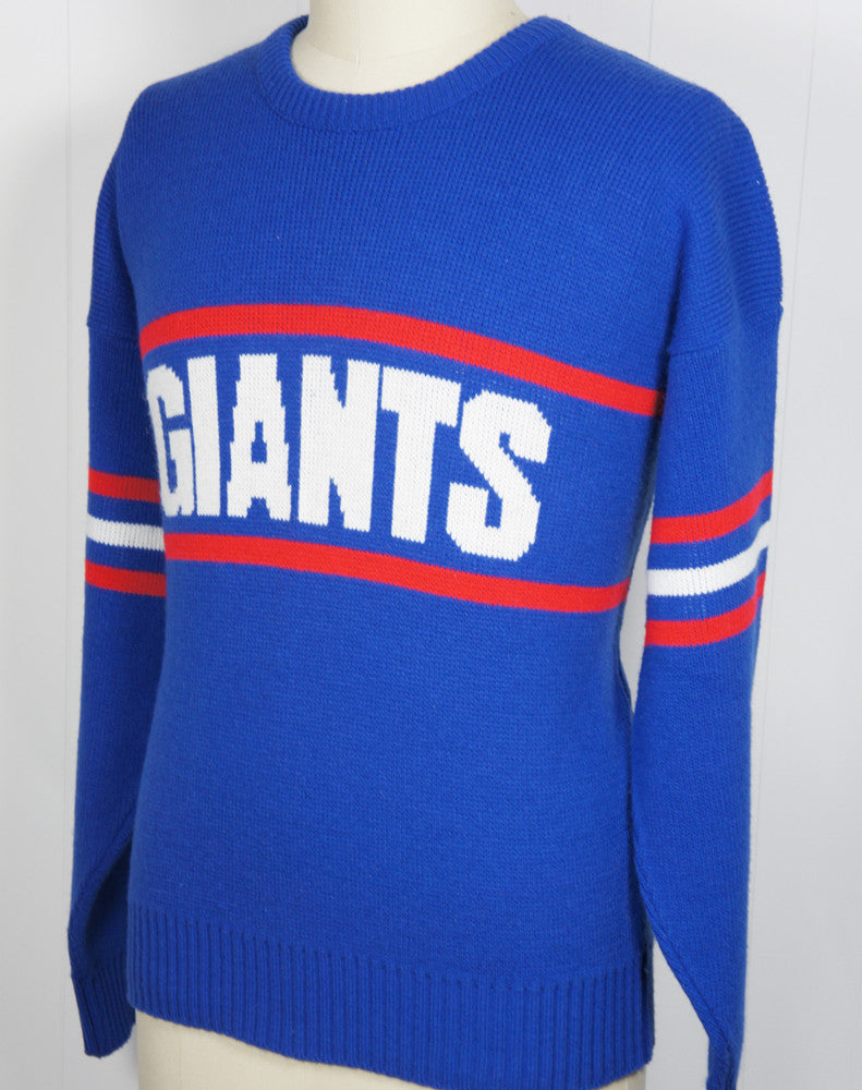 1980's New York Giants Cliff Engle Sweater, Size XL