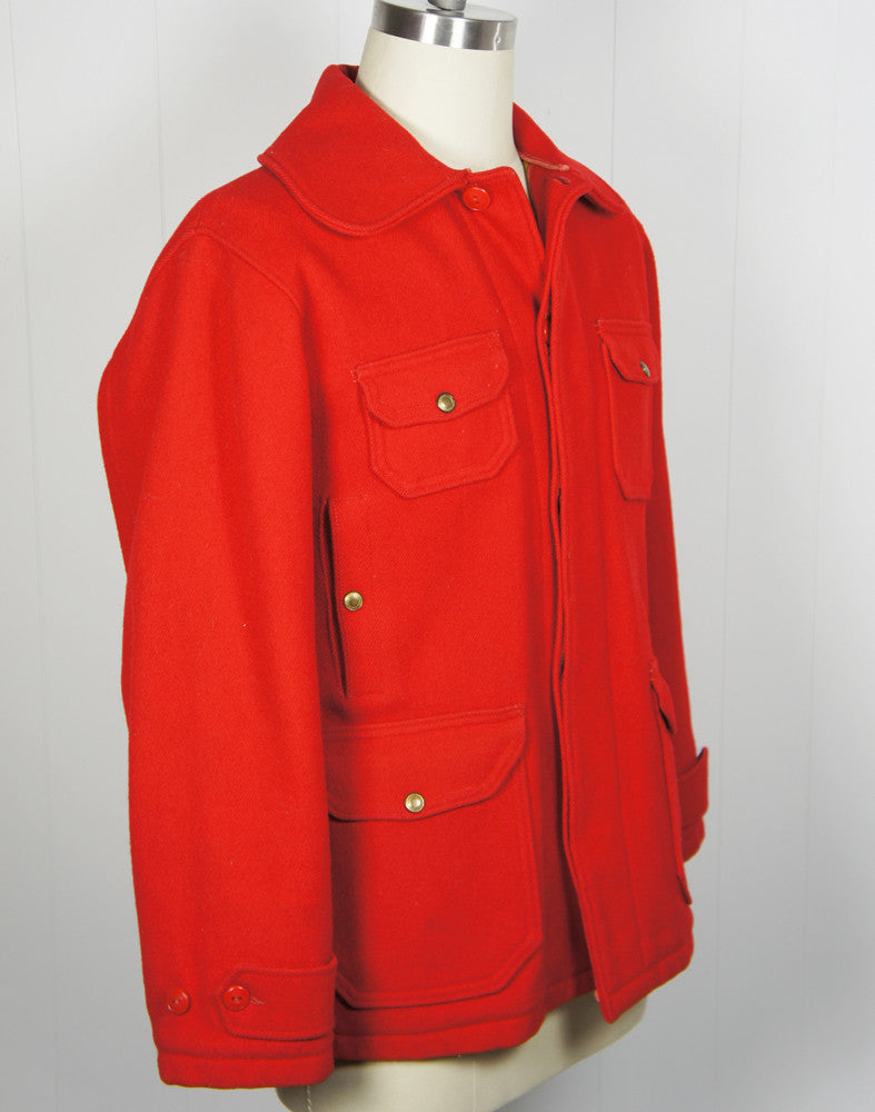 1940's Red Woolrich Hunting Jacket - Size L