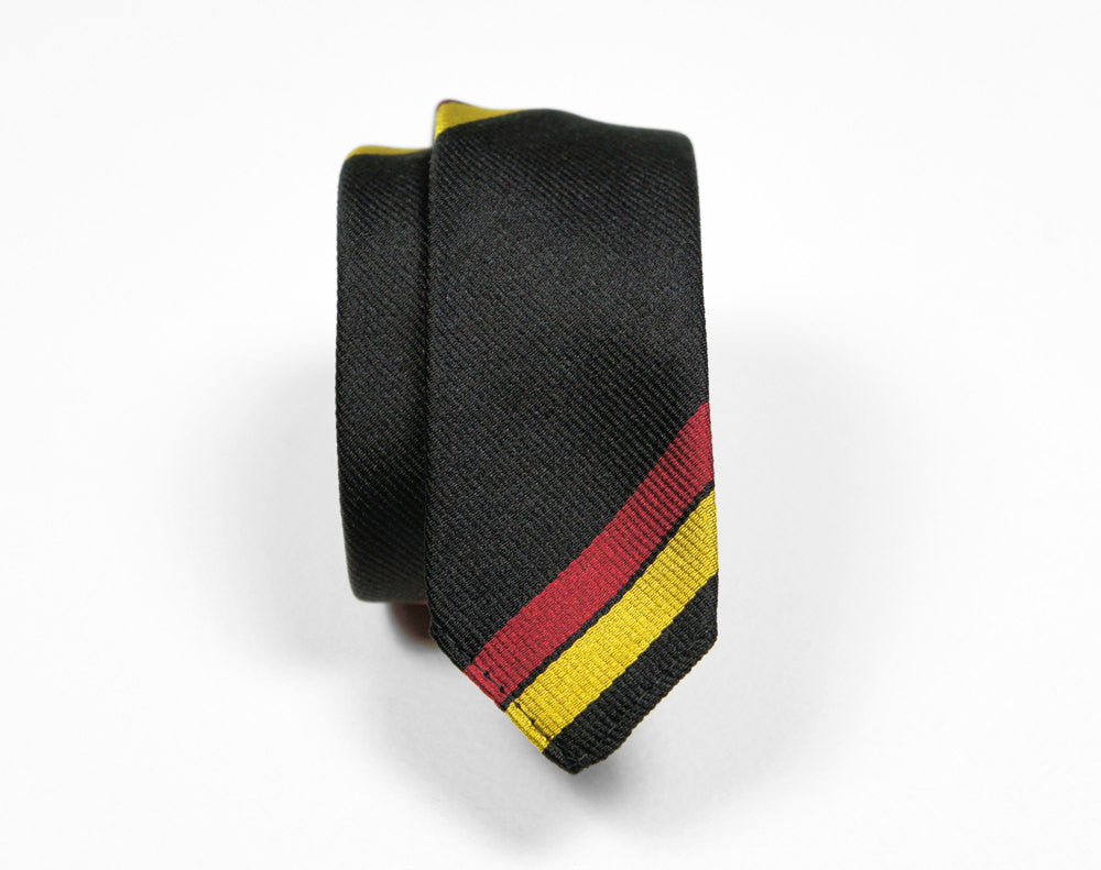 1960's Black, Red & Gold Skinny Necktie