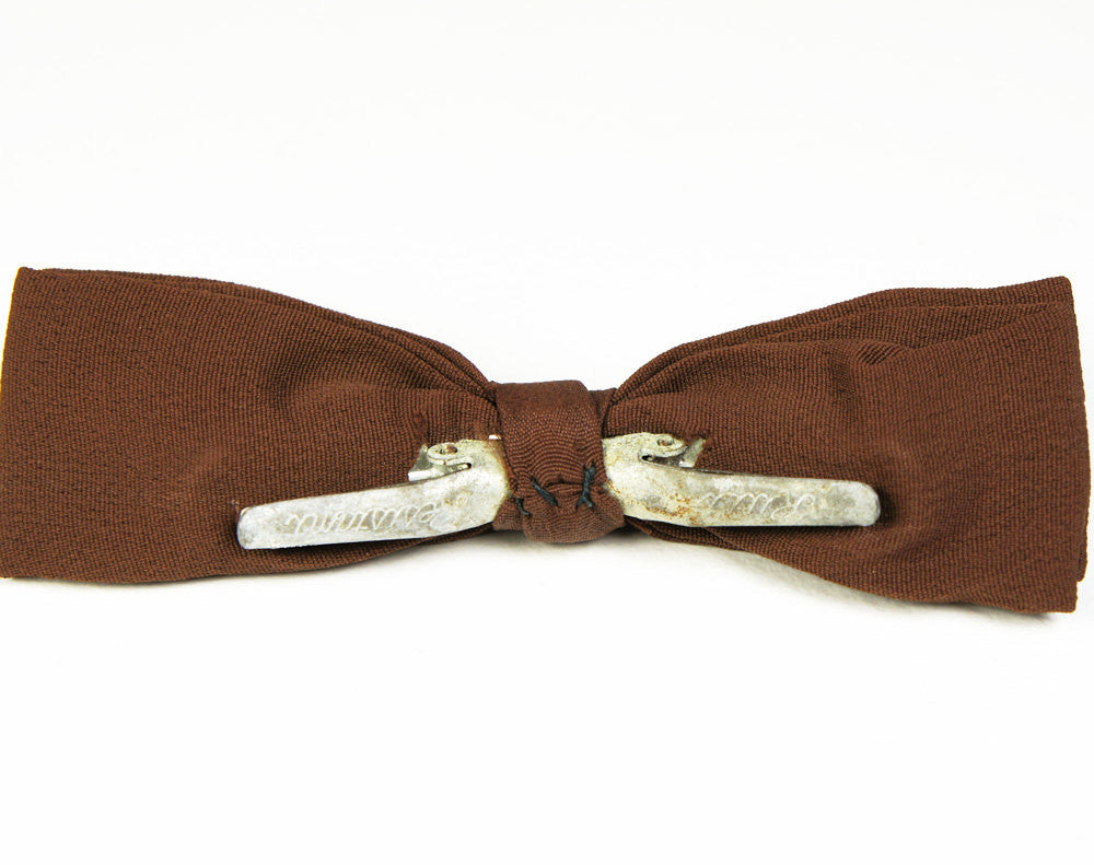 1950's Brown, Yellow & White Spotted Bow Tie