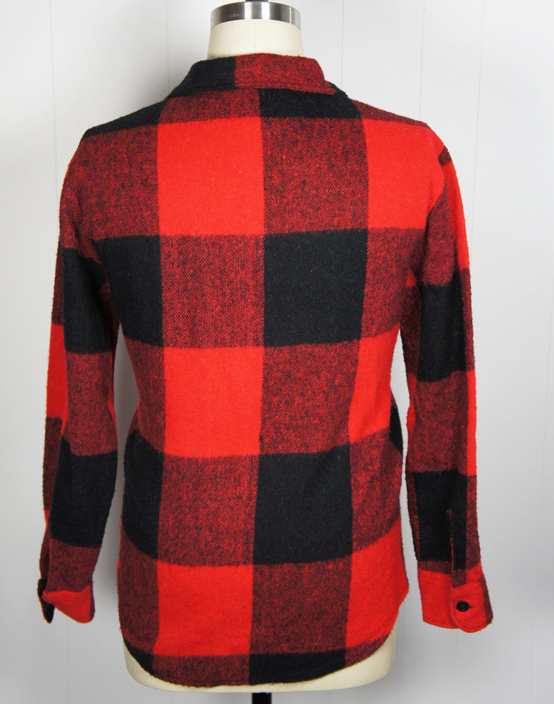 1970's Buffalo Plaid Flannel Shirt - Size XL