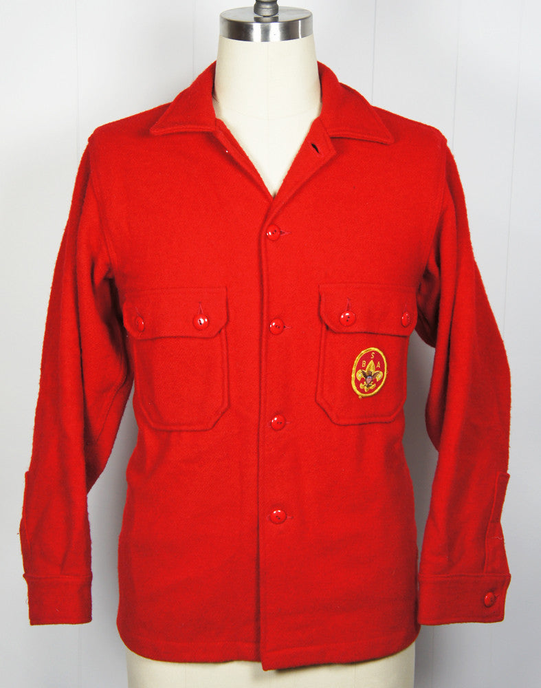 1960's Boy Scouts of America Wool Shirt Jacket - Size L