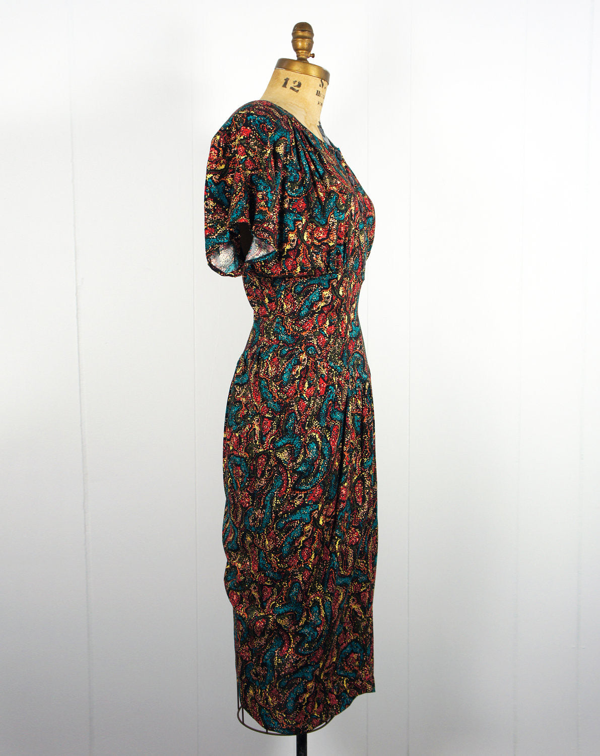 1980's Confetti Wiggle Dress - Size L
