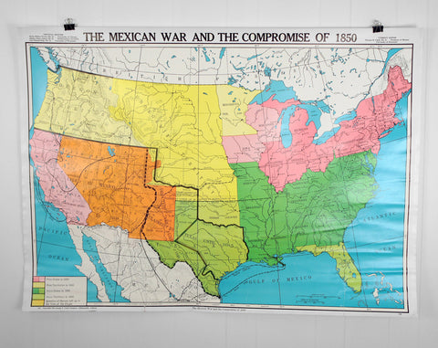 U.S. History Wall Map - Mexican War & Compromise of 1850