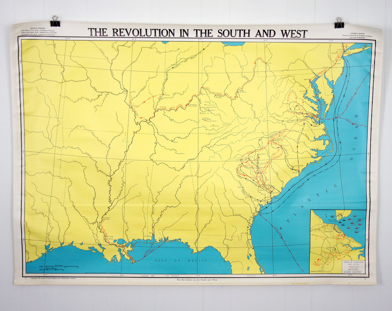 U.S. History Wall Map - Revolution In The South & West