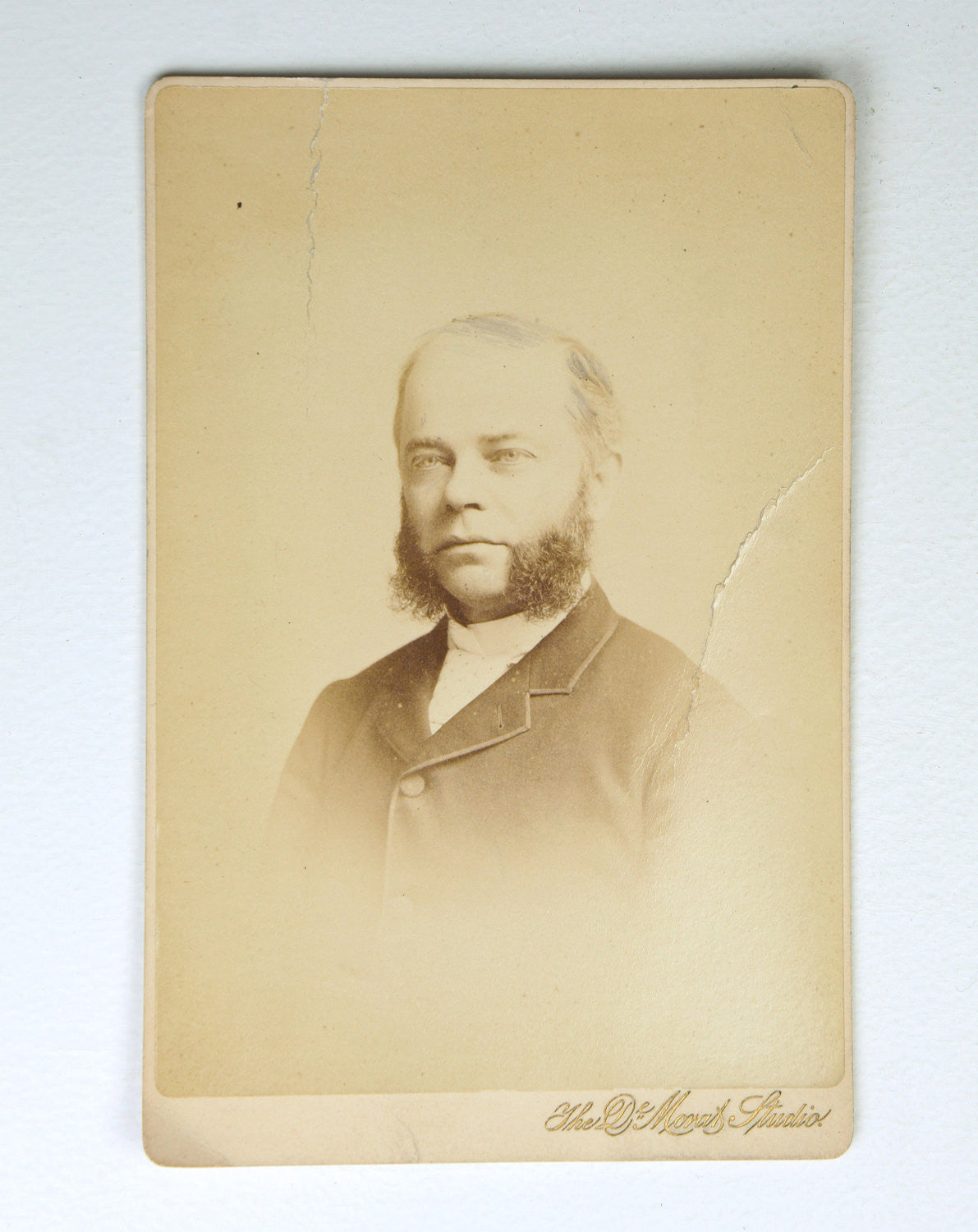 Late 1800's Cabinet Card Photo - Impressive Mutton Chops!