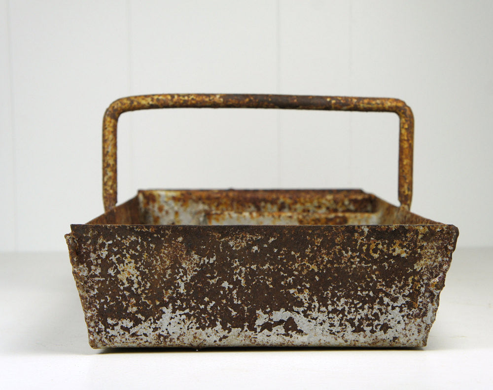 Early 1900's Cast Iron Caddy / Tote