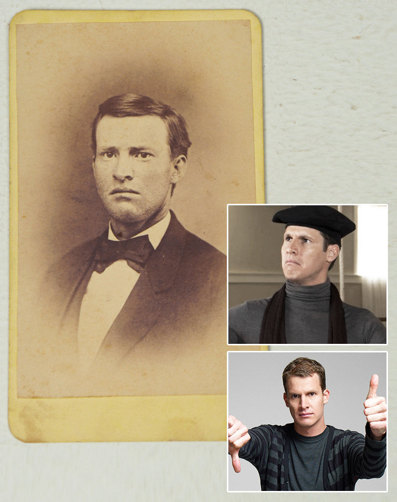 1860's CDV Photo - Pouty Daniel Tosh Doppleganger