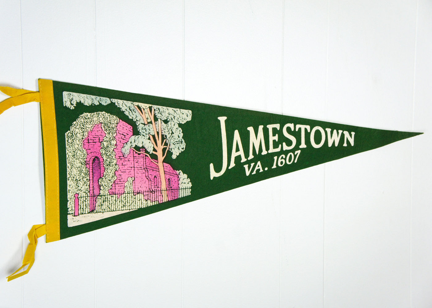 1950's Felt Pennant - Jamestown, Virginia