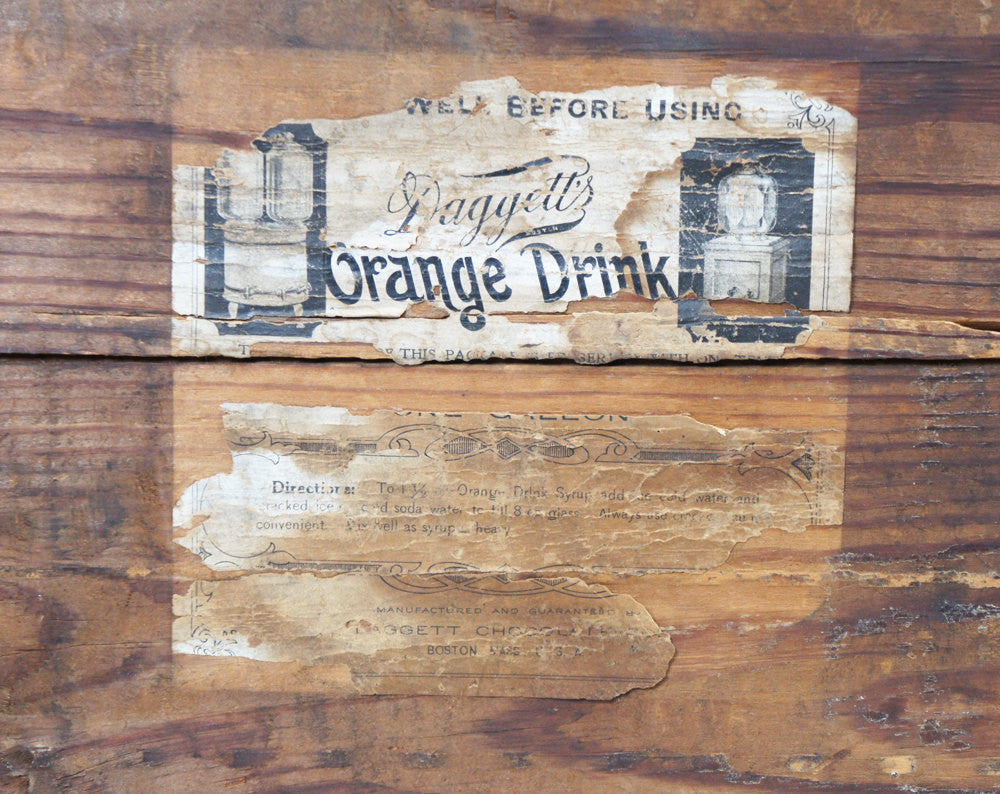 Late 1800's Daggett's Orange Drink Syrup Crate - Boston, MA