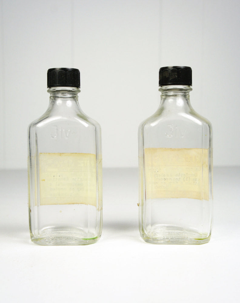 1970's Pharmacy Prescription Bottles - Set of 2