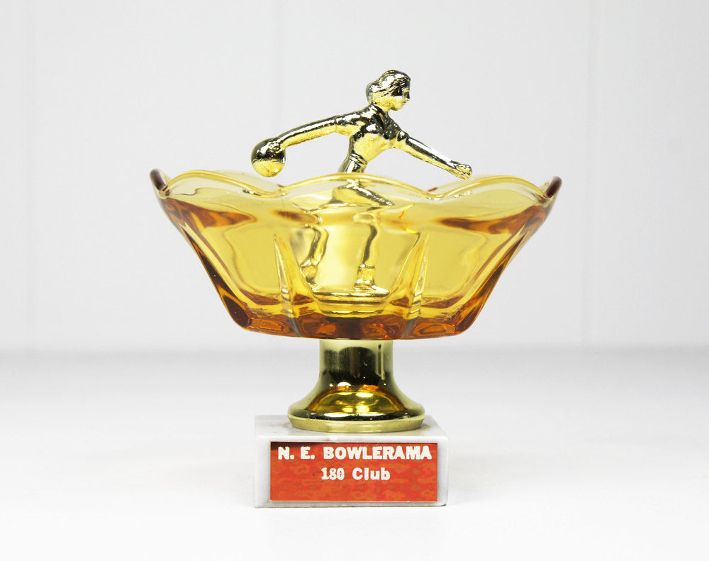 Metal Women's Bowling Trophy