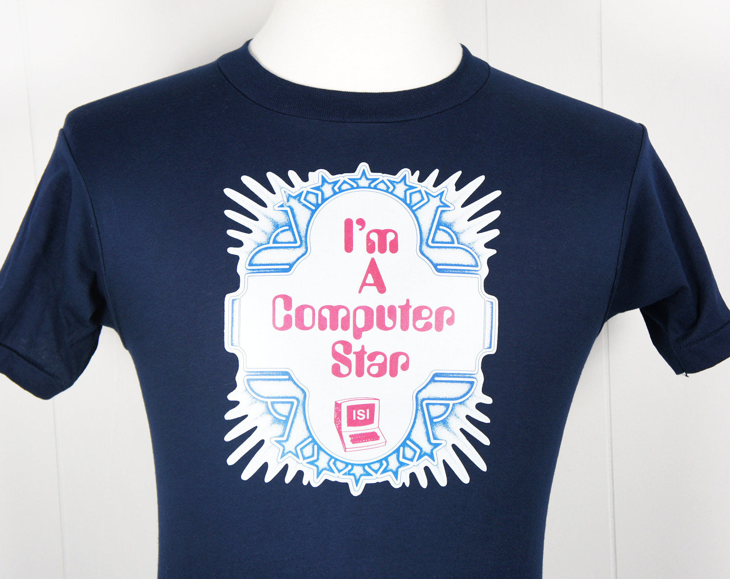 1980's I'm A Computer Star T-Shirt - Size S