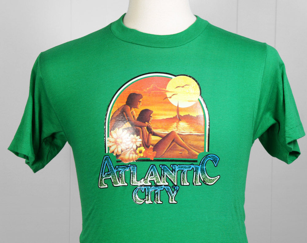 1980's Atlantic City T-Shirt w/ Sunset - Size S