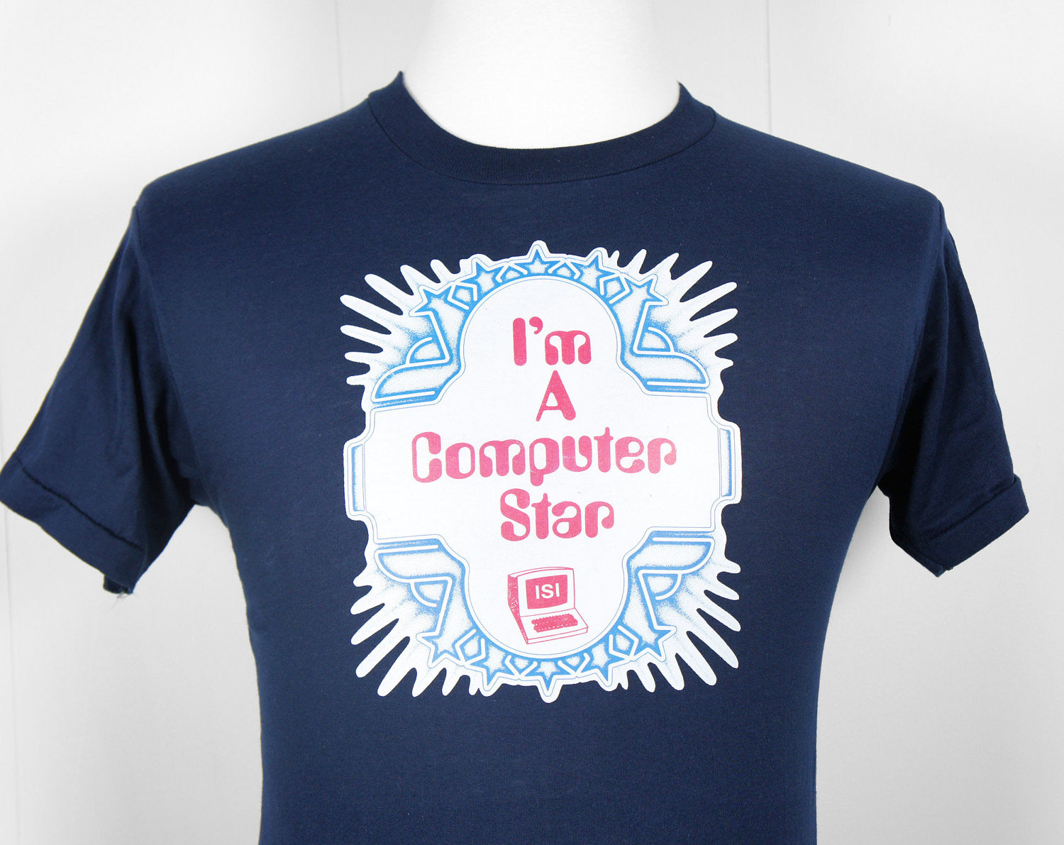 1980's I'm A Computer Star T-Shirt - Size M