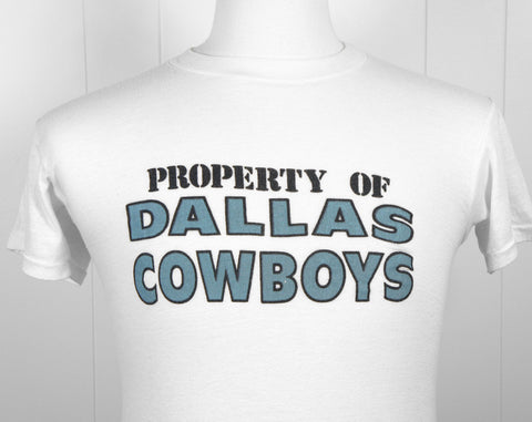 1980's Dallas Cowboys Football T-Shirt - Size S