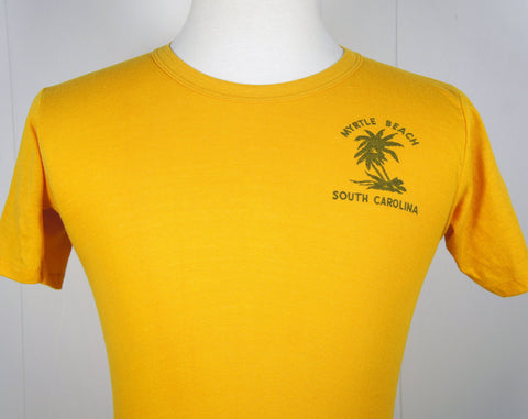 1970's Myrtle Beach, SC T-Shirt w/ Palm Trees - Size S