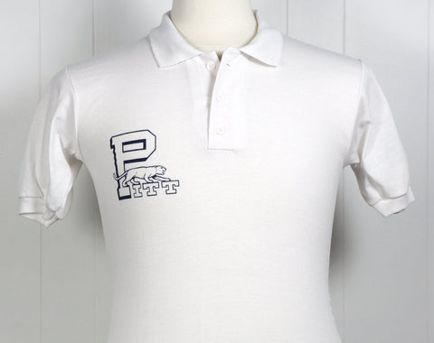 1970's University of Pittsburgh Polo Shirt - Size S