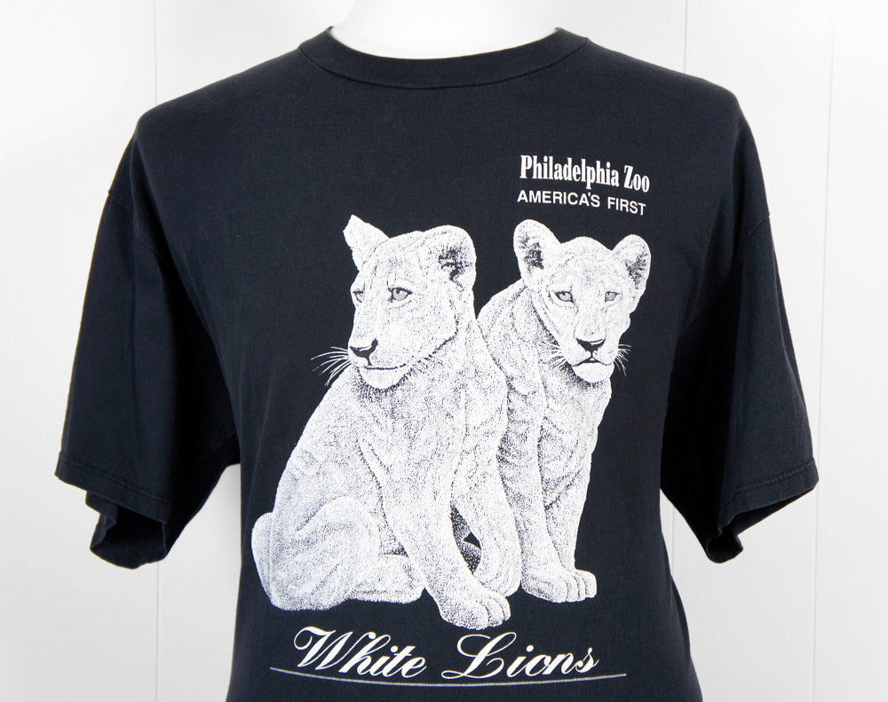 1990's Philadelphia Zoo White Lions T-Shirt - Size XL