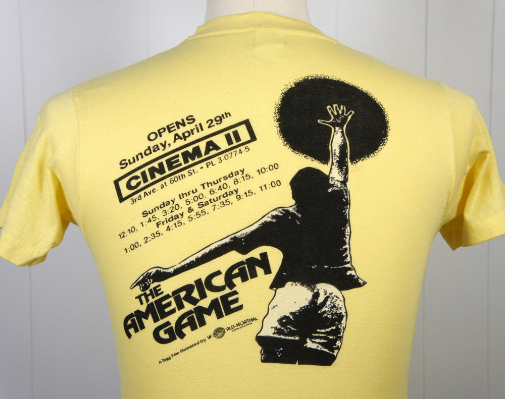 "1979 ""The American Game"" Movie Premiere T-Shirt - Size S"